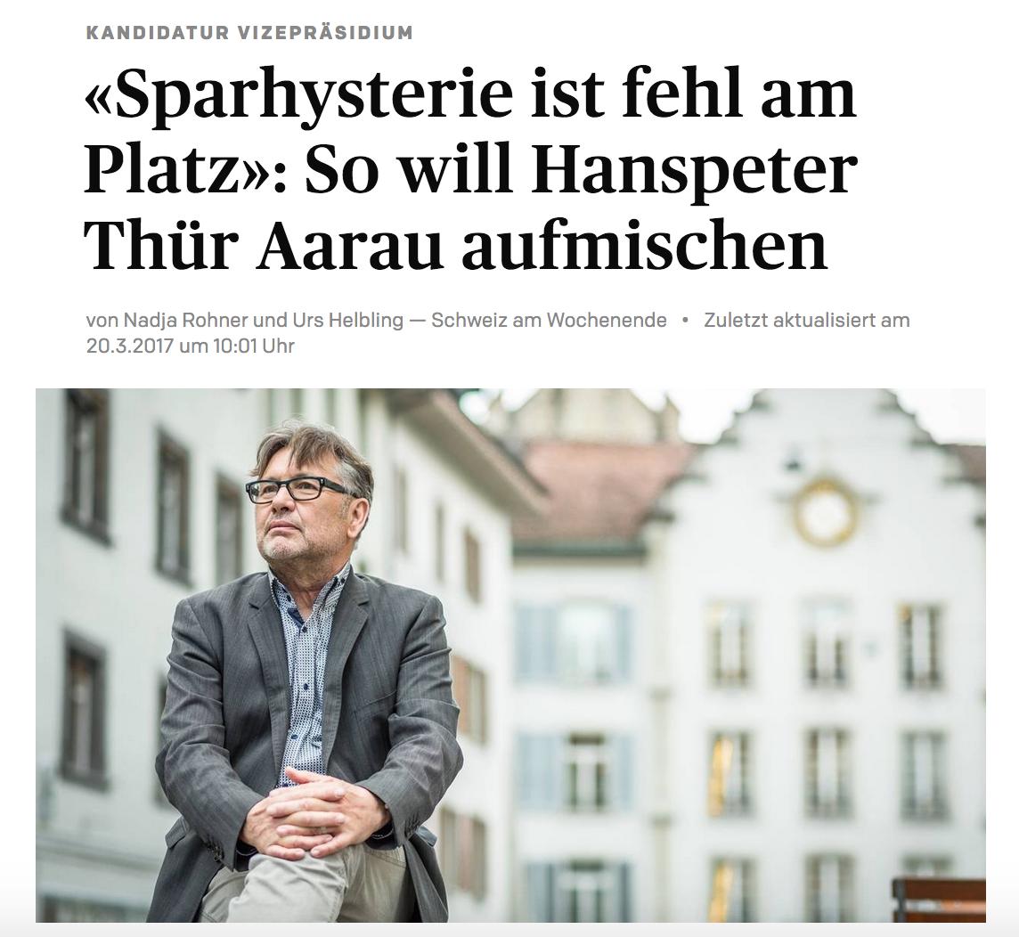 «Sparhysterie ist fehl am Platz» - Hanspeter Thür