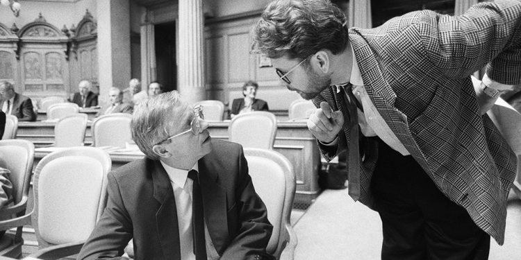 Im Gespräch mit Nationalrat Christoph Blocher, 1990